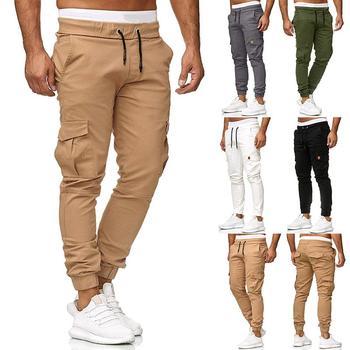 Outwear Sportswear Sweatpants Joggers & Sweats Men Pants 95% Cotton Cargo Pants Military style Slim Fit Khaki Army Green army green loose fit hooded outwear