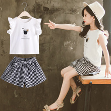 Summer Kids Baby Girl Clothes Sets T shirt + Pants 2Pcs Children Outfit For Cute Girls Clothing Suit 4 5 6 7 8 9 10 11 12 Years clothing sets children baby 2pcs clothes girls summer t shirts dress 2pcs girls clothes for age 2 3 4 5 6 years kids sport suit
