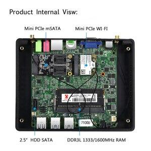 Image 5 - Bebepc Mini Pc Core I3 7100U I5 5287U 4200Y Pentium 4405U DDR3L Htpc Wifi Windows 10 Minipc Tv Box Desktop fanless Comput