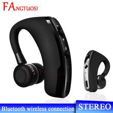 FANGTUOSI V9 Business Wireless Bluetooth Earphones Handsfree Noise Control Headset Ear-hook Earhones With Mic For iPhone 11(China)