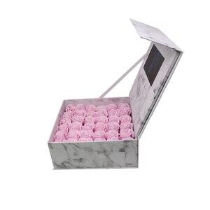 Image 2 - Жесткая обложка Цветы видео коробка 7 дюймов 2 Гб памяти Универсальная поздравительная карта HD просмотр буклет пюре для старшего игрока подарка