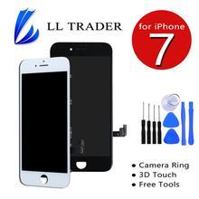 Recambio de pantalla LCD para iPhone 7, montaje de digitalizador táctil, botón de inicio no incluido, cámara frontal, herramienta gratuita