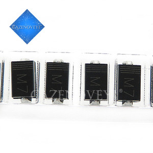 100pcs/lot DIODE M7 1N4007 SMD 1A 1000V IN4007 Rectifier Diode In Stock