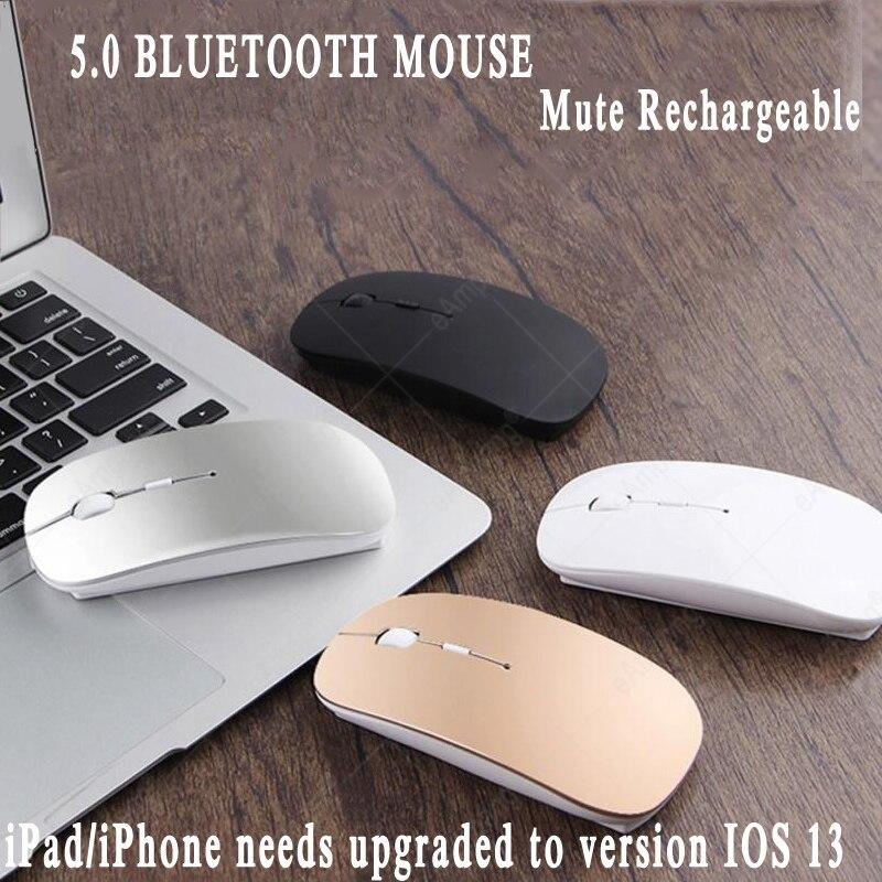 Mouse Bluetooth para o iPad 10.2 9.7 2017 2018 9.7 10.5 Pro 11 12.9 2020 Ar 2 3 Mini 4 5 para A Apple Macbook Recarregável Camundongos