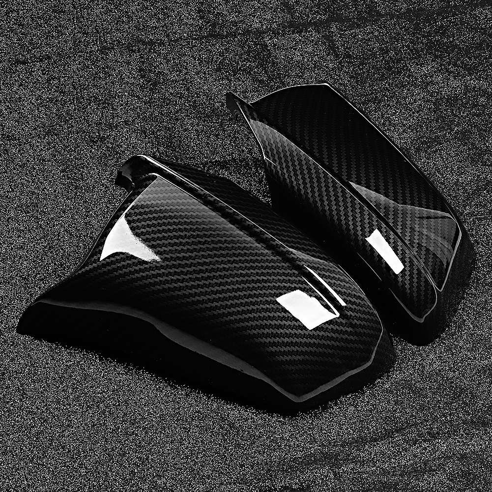 Left&Right Side Mirror Housing Cap Covers Carbon Fiber Texture Fit for BMW 5 Series F10 2011 2012 2013 Rearview Mirror Cover