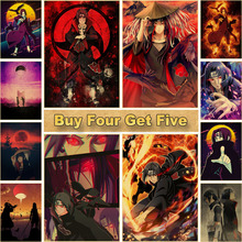 Pictures Bedroom Poster Paintings Naruto Wall-Art Uchiha Itachi Hotel Printed Home-Decor
