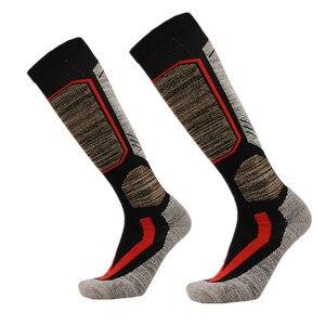 Image 3 - High Quality Cotton Thick Cushion Knee High Ski Socks Winter Sports Snowboarding Skiing Socks Warm Thermal socks