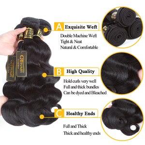 Image 5 - Indisches Haar Körper Welle Bundles 100% Menschliches Haar Bundles Webart Indische Körper Welle Remy Haar Extensions Weave 8 28 zoll QT Haar