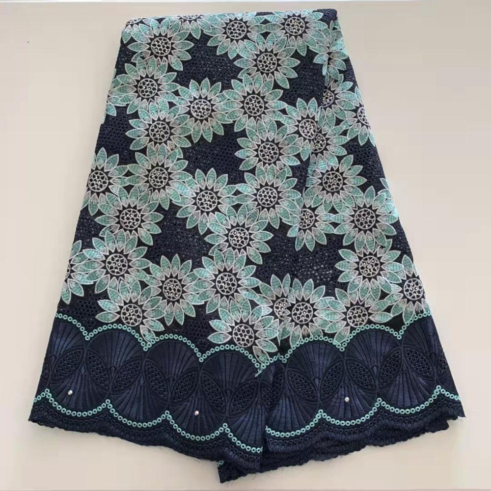 nigerian swiss voile Lace African Cotton Lace Fabric 2020 High Quality Swiss Voile Lace With Stones french Lace Fabric for party