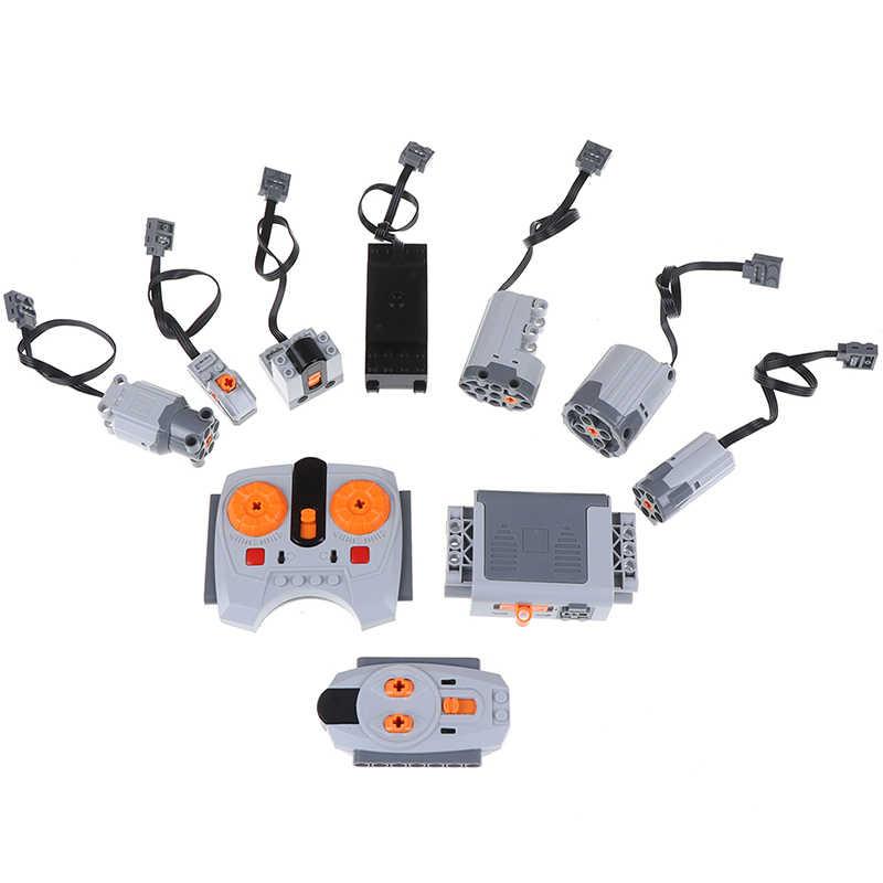 Technic części kompatybilne z wieloma funkcjami zasilania narzędzie Servo Blocks pociąg silnik elektryczny zestawy modeli PF zestawy do budowania