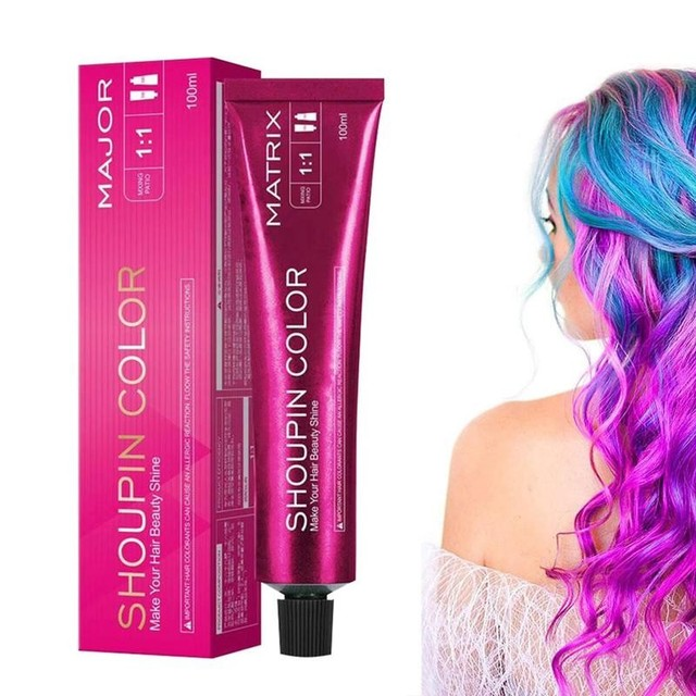 100ml Dye Hair Cream Mild Safe Hair Coloring Shampoo Styling Tool For All Hairs Lasting about 3 month 1