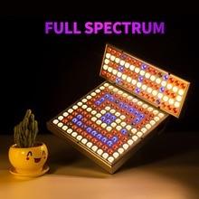LED tam spektrum lamba bitki büyütücü aydınlatma 45W 25W AC110V 220V UV IR kapalı dikim için ışık sera büyüyen ab abd Plug