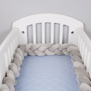 2.5M 3M Length Knot Newborn Bumper Long Knotted Braid Pillow Baby Bed Bumper in the Soft Crib Infant Room Decor
