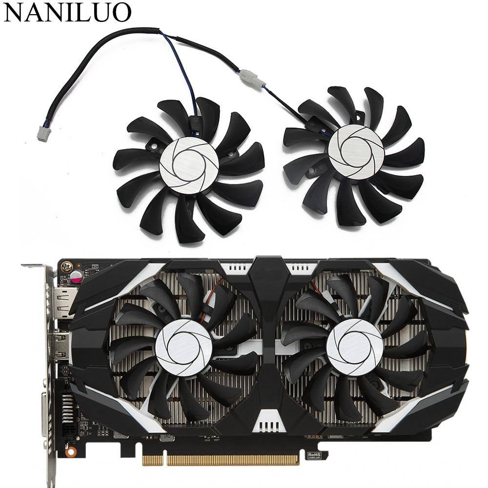 HA8010H12F-Z 75MM 2Pin GTX1050 GTX1050Ti GPU Cooler DUAL Fan For MSI Geforce GTX 1050 1050TI TOC Graphic Card Cooling Fan