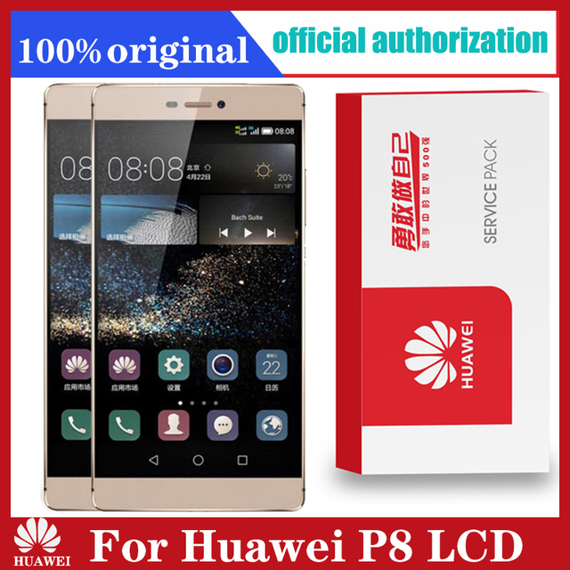 Original 5.2 Display with Frame Replacement for Huawei P8 LCD Touch Screen Digitizer Assembly GRA L09 GRA UL00 GRA L09