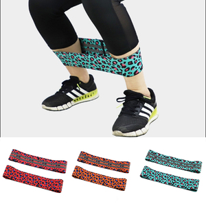 1PC Leopard Elastic Resistance Booty Band Band Exercise Gym Latex Fitness Training Stretch Belt