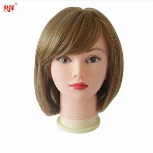 Image 5 - מאוד רך קירח ראש פאה Stand עבור כובע זכוכית תצוגת פאת פאה ביצוע תסרוקת אימון עיסוי Mannequin ראש פאת ראש stand