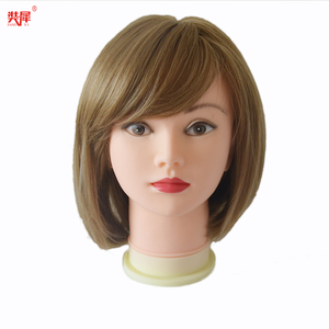 Image 5 - Very Soft Bald Head Wig Stand For Hat Glass Wig Display Wig Making Hairstyle Training Massage Mannequin Head Wig Head Stand