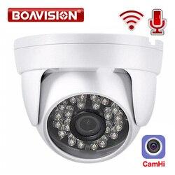 HD 1080P IP WIFI Беспроводная купольная камера, Аудио ИК 20 м ночного видения объектив 3,6 мм 2-мегапиксельная камера видеонаблюдения P2P CamHi