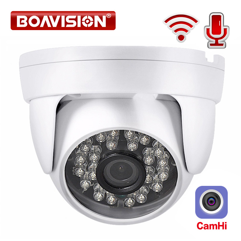 HD 1080P IP WIFI Camera Wireless Dome Camera Audio IR 20M Night Vision 3.6mm Lens 2MP Security CCTV Camera P2P CamHi|2mp dome|ip wifi camera 1080pip wifi camera - AliExpress