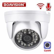 HD 1080P IP kablosuz kamera kablosuz Dome kamera ses IR 20M gece görüş 3.6mm Lens 2MP güvenlik güvenlik kamerası P2P camHi