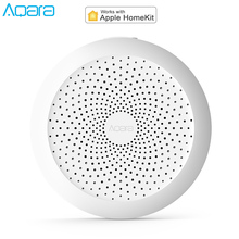 2019 Original Xiaomi Mijia Aqara Hub Gateway With RGB LED Night Light Smart Home For Xiaomi Mi Home App Apple Homekit Aqara Home xiaomi aqara smart home kits gateway hub door window sensor human body wireless switch humidity water sensor for apple homekit