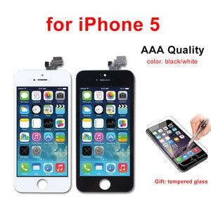 Image 3 - AAA kalite LCD ekran iPhone 6 6 artı 5 5S 5C 5 LCD ekran dokunmatik ekran Digitizer meclisi Pantalla siyah/beyaz Ecran