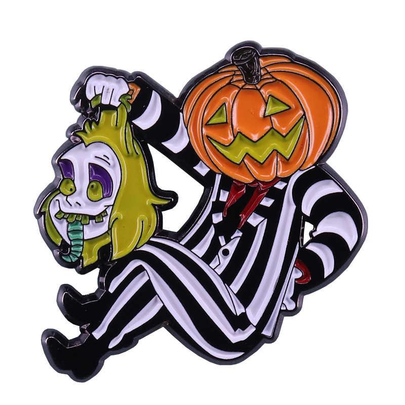 Creepy clown pin uomo zucca spilla perfetto accessorio Di Halloween