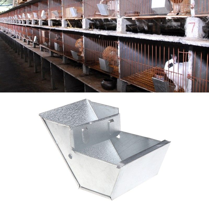 Rabbit Hutch Trough Feeder Drinker Bowl For Rabbit Farming Animal Equipment Tool Animal Equipment Tool Farm Animal Feed Supplies