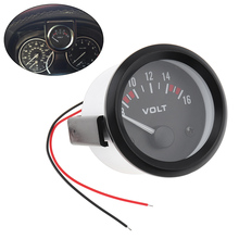Newest Universal Voltmeter Gauge Meter 8-16V Racing Car 2inch volt Volts 52mm Auto Instrument