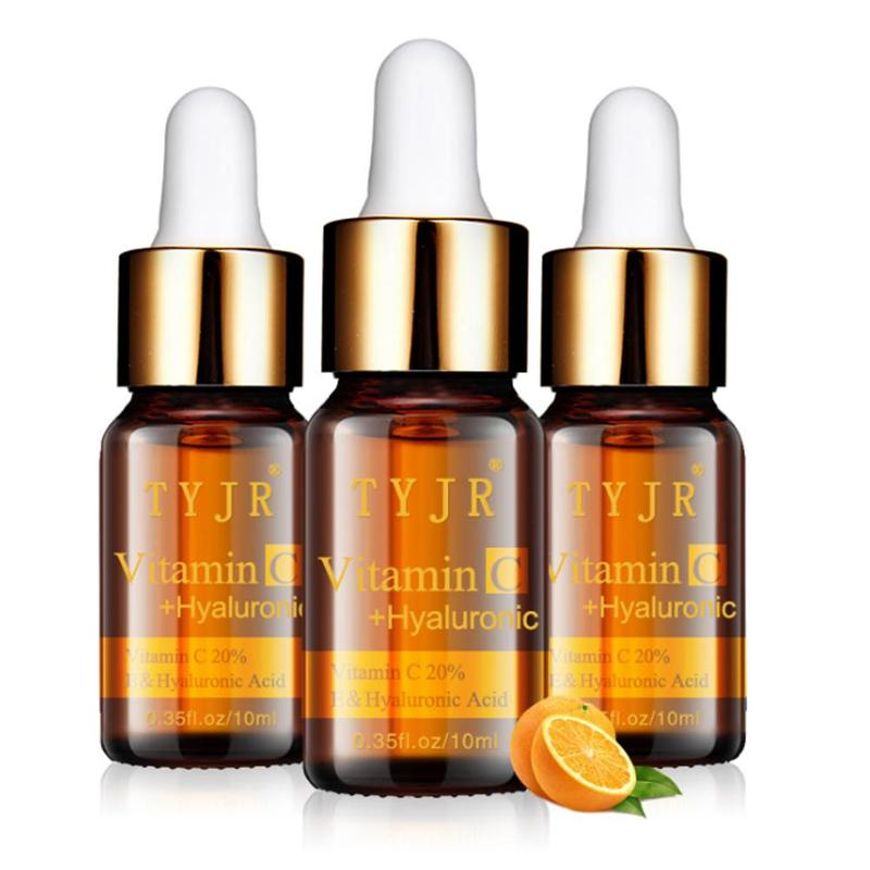 100% Pure Vitamin C Serum Liquid Freckle Removal Acne Scars Hyaluronic Acid Anti-wrinkle Vc Moisturizing Face Serum