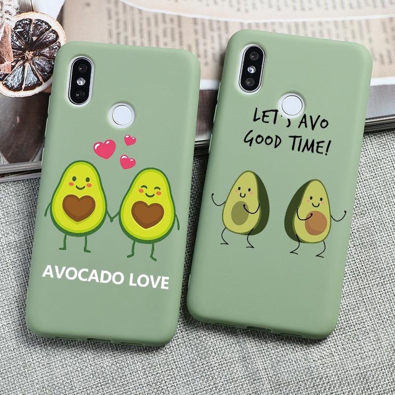 Silicone TPU Cute Cartoon Avocado Coque For Xiaomi Redmi Note 8T 8 7 6 5 Pro 5A 4X K20 Pro 8A 7A 6A S2 Mi A3 8 Lite 9T 9 SE Case
