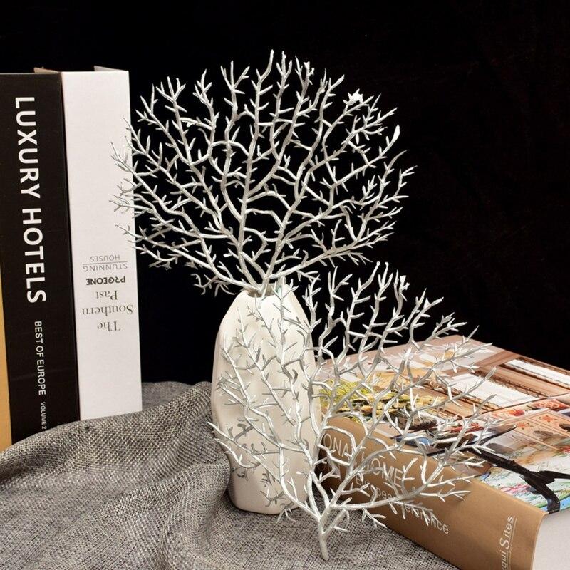 Искусственный Коралл филиал моделирования поддельные древовидные ветви сухое декративное растение белый завод дома Свадебные украшения вечерние поставки