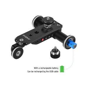 Image 5 - Andoer Aluminium Legierung Motorisierte Video Kamera Dolly Track Slider + Telefon Halter für GoPro Hero 7/6/5 canon Nikon Sony DSLR Kamera
