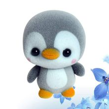Car Ornaments Cute Penguin Flocking Doll Decoration Automobiles Lovely Plush Kit