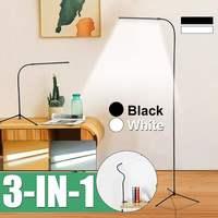 CLAITE 8W Modern Stand Floor Lamp White & Warm White LED Floor Lamp Dimmer USB Desk Reading Light Fixture for Bedroom Decor