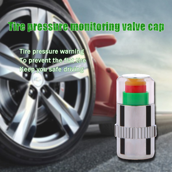 4Pcs Car Warning Pressure Tire Wheel Air Valve Caps Cover For Mercedes W203 W211 W204 W210 Benz BMW F10 E34 E30 F20 X5 E70 X6 image
