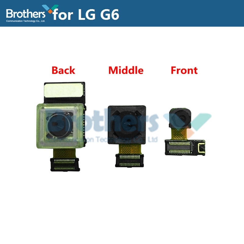 For LG G6 Back Big Rear Camera Middle Camera Front Small Camera Big Camera For LG G6 Camera Module Flex Cable Phone Replacement