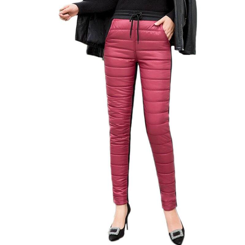 Зимние ватные спортивные штаны для женщин, повседневные обтягивающие Стрейчевые брюки с высокой талией, новинка 2020, женские прямые брюки|Брюки |   | АлиЭкспресс