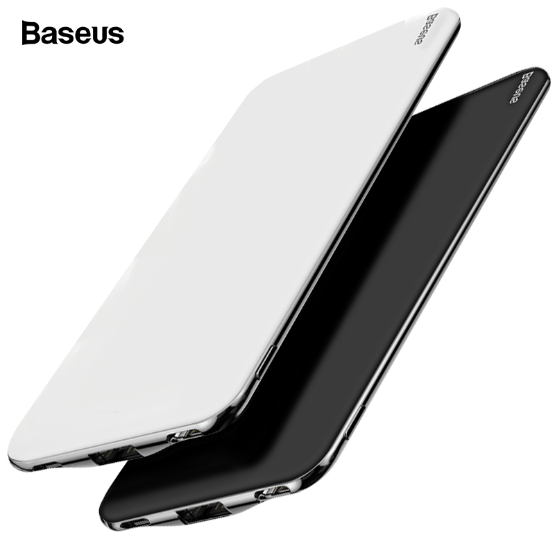 Baseus Ultra Slim 10000mAh Power Bank For IPhone Xiaomi Mi USB Type C Fast 10000 MAh Powerbank Portable External Battery Charger