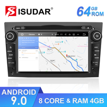 Isudar 2 din Авто Радио Android 9 для OPEL/ASTRA/Zafira/Corsa Восьмиядерный ОЗУ 4 Гб gps Автомобильный мультимедийный плеер DVD Wifi USB DVR DSP