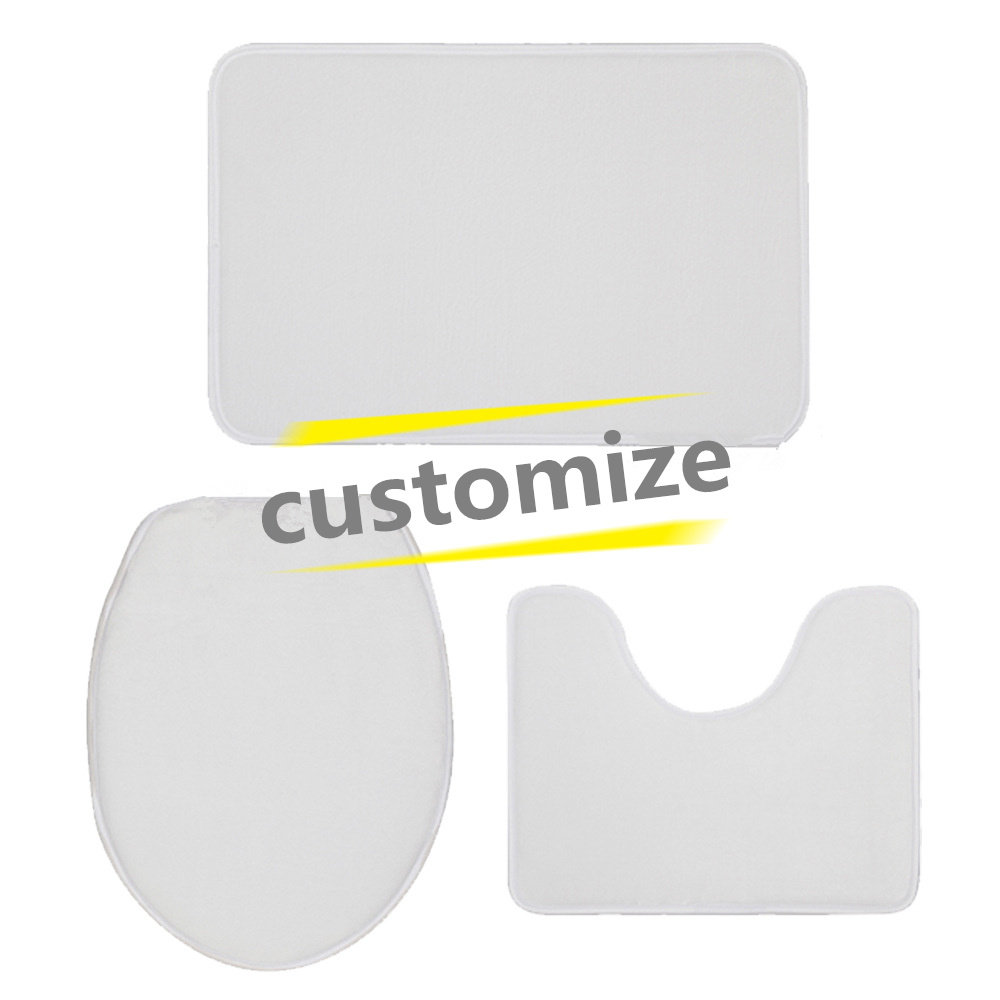 Personalized Photo Customized Bathmat Bathroom Toilet Shower Room Carpets Memory Foam Lady Bathroom Bath Mat Carpet Rug Sets
