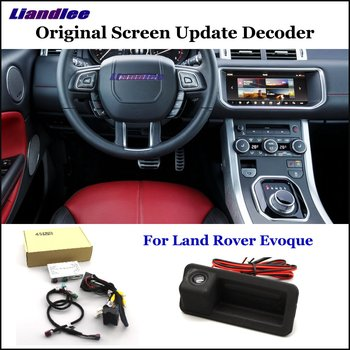 Liandlee Car Original Screen Update System For Land Rover Evoque Rear Reverse Parking Camera Digital Decoder Display Plus