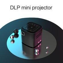 D019 мини-проектор Поддержка Full HD 1920x1080P DLP Портативный Android 7.1.2 OS Wi-Fi Bluetooth светодиодный Батарея домашний мультимедийный проектор