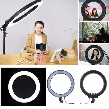 RL-18 5500K Photographic Lighting Dimmable Camera Photo Studio Phone Ring Lamp Photography Led Ring Light Tripod Stand