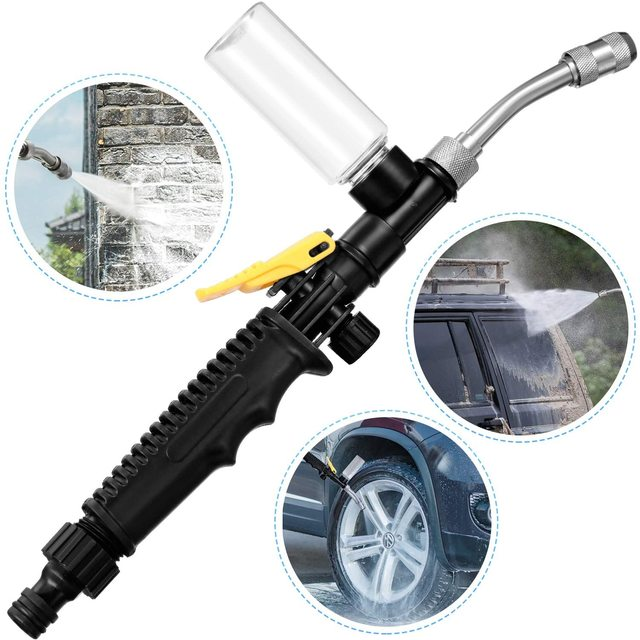 2-in-1 High Pressure Washer 2.0 - Water Jet Nozzle Fan Nozzle Safely Clean High Impact Washing Wand Water Spray Washer Water Gun 1