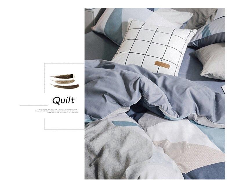 confortável e quente conjunto de cama capa folhas fronhas casa lençóis