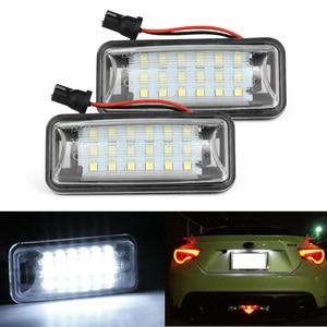 2Pcs Led car CanBus No Error License Plate Light For Subaru Forester XV Impreza Legacy BRZ WRX / WRX STI Wagon Number Lamp(China)