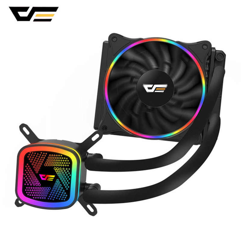 Darkflash Waterkoeling Pc Case Cpu Koeler Met Rgb Fan Radiator Geïntegreerde Liquid Cooler Voor Lga 2011/1366/115X/AM4