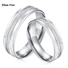 цена на Titanium Steel Silver Plated Men Ring Punk Wedding Women Grind Rings For Men Couple Engagement Rings Silvery Jewelry Finger Ring